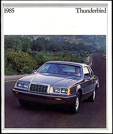 1985 Ford Thunderbird sales brochure Elan FILA Turbo Coupe at Amazons Entertainment Collectibles Store