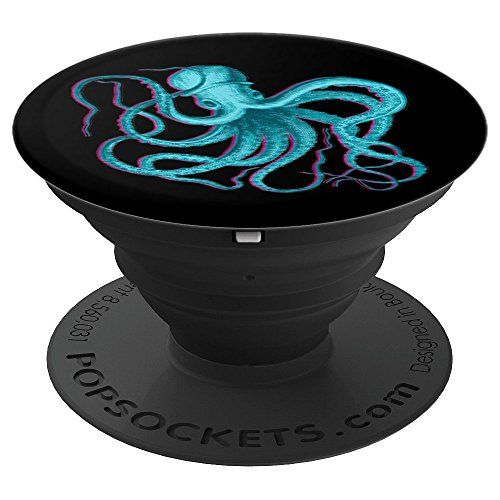 OCTOPUS VINTAGE VAPORWAVE AESTHETIC ART - PopSockets Grip and Stand for Phones and Tablets from Aesthetic Vaporwave Co.