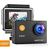 APEMAN Action Camera 1080P Full HD 170 Degree Wide Angle Underwater 30m Waterproof Sport Camera