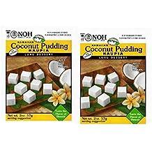 Noh Food Hawaiian Mixes Luau (2 Pack) (Coconut Haupia Pudding)