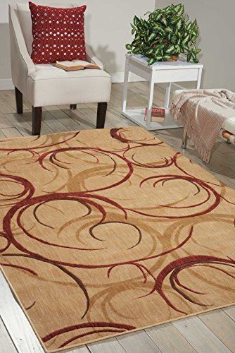 - Nourison Somerset (ST82) Beige Rectangle Area Rug, 3-Feet 6-Inches by 5-Feet 6-Inches (3'6