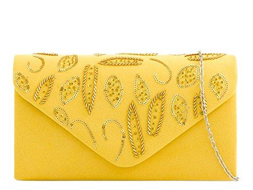 petit Jaune Hautefordiva jaune pour femme Pochette R8wPvCzvYq