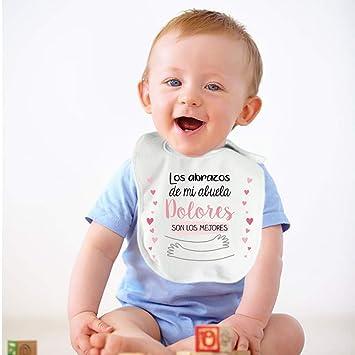 Regalo personalizado para un bebé: babero para niño o niña Abrazos ...
