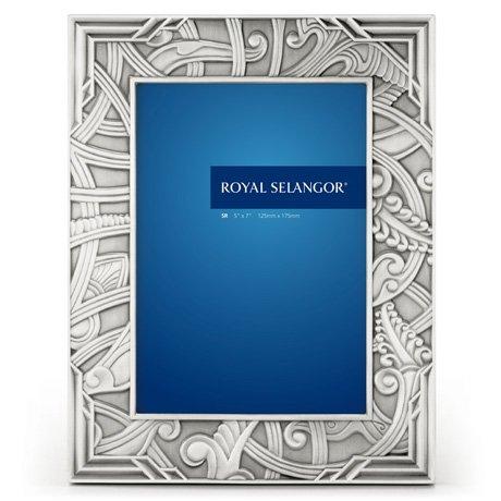 Royal Selangor Hand Finished Atiya Collection Pewter Photo Frame (5R) by Royal Selangor