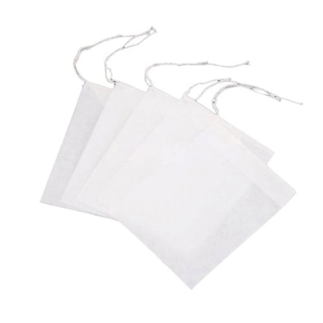 Dojore 20 x Muslin Reusable Empty Spice Herb Tea Bags With Drawstring 5.5cm x 7cm Heat Seal Filter -