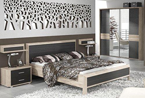 Schlafzimmer komplett 215366 4-teilig san remo eiche / lava