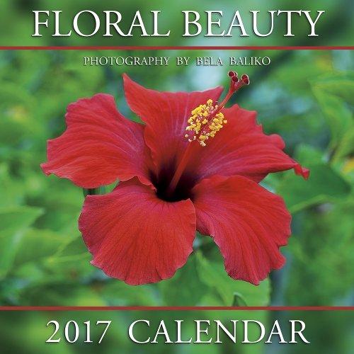 """2017 Floral Beauty Calendar - 12x12"""" Wall Calendar"""