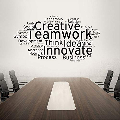 Creative Teamwork Vinyl Wall Decal Team Work Office Art Decor Stickers Mural Innovate Inspirational Quote Wall Sticker H557 Other Color
