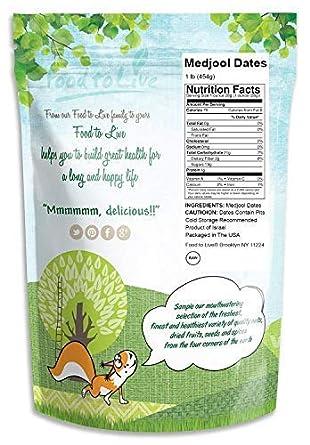 Food to Live Los dátiles de Medjool - 453 gramos