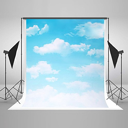 5x7 Background Backdrops for Photography Blue Sky White Clound Photo Backdrop Newborn Custom Kids Birthday Photo Studio Prop
