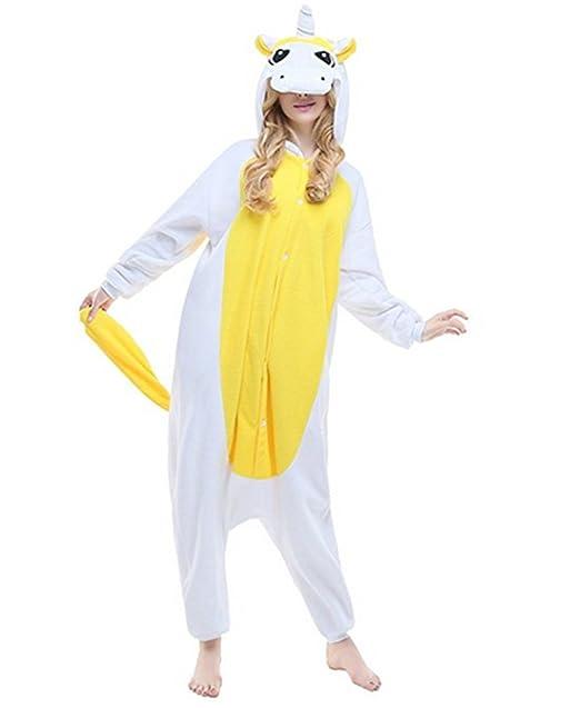 VineCrown Unicornio Pijama Animal Disfraces Traje Adultos Ropa de dormir Novedad Pijamas de una pieza Cosplay Carnaval Navidad Fiesta: Amazon.es: Ropa y ...