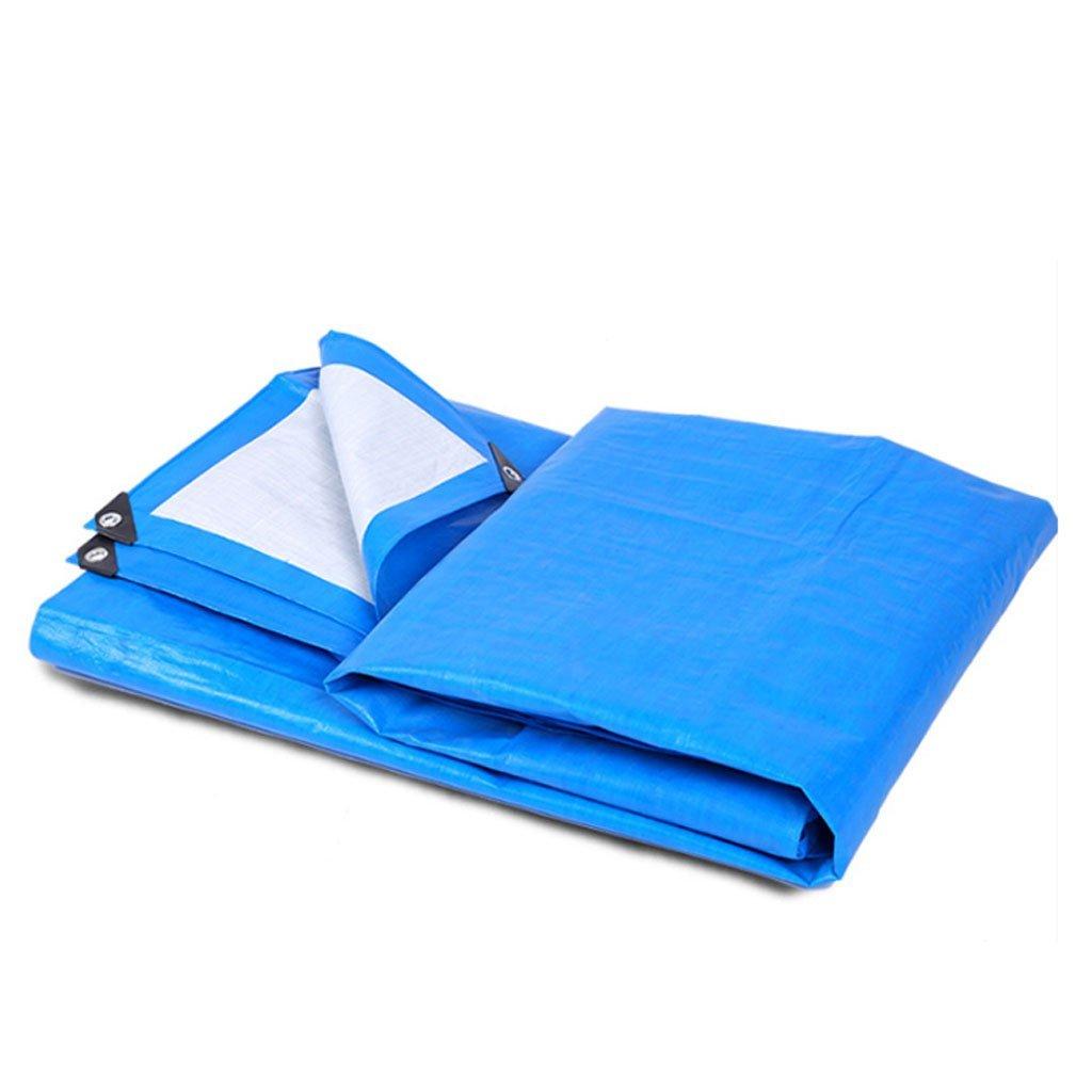 Tarpaulin Panno Imbottito con telone Foglio di plastica Protezione Solare Panno per Tenda da Sole Puro a Prova di umidità Facile da Piegare (Dimensioni   3  4m)