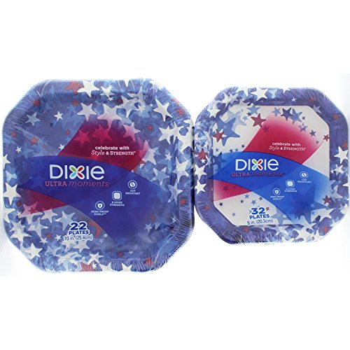 (Dixie Ultra Patriotic 10 Inch 22 Count and 8 inch 32 Count Paper)