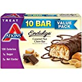 Atkins Endulge Treats, Caramel Nut Chew Bar, 1.2oz Bar, 10 Count