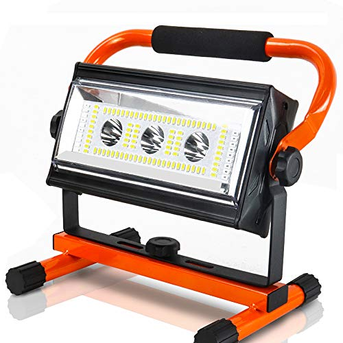 Baustrahler, Orthland Led Baustrahler Akku 80W mit USB Ausgang-Ports, Arbeitsleuchte mit 6 Dimmstufen(300 bis 4800 Lumen…