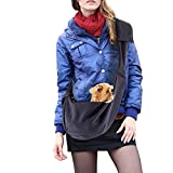 Hands-free,Adjustable Pet Sling Carrier, Reversible Double-Sided Pouch for Puppy, Cat Outdoor (Royal blue)
