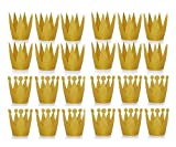 Amy Basic (24 Pcs Gold Birthday Crown Hats for Birthday , Party and Wedding Anniversary.