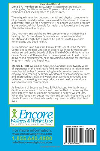 Encore Maintain for Life: Weight Maintenance and