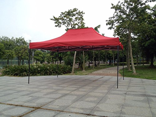 American Phoenix 10x10 10x20 Multi Color and Size Portable Event Canopy Tent, Canopy Tent, Party Tent Gazebo Canopy Commercial Fair Shelter Car Shelter Wedding Party Easy Pop up (10x15, Red)