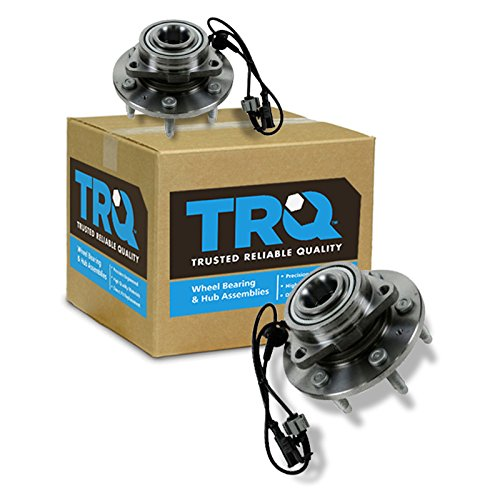 TRQ Front Wheel Hub & Bearing Left & Right Pair Set for Chevy GMC Cadillac 4WD