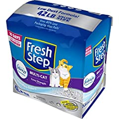 Fresh Step Multi-Cat Clumping Cat Litter is powerful for even the busiest litter boxes. The litter contains carbon to inhibit bacterial odor for up to 10 days and tight clumping clay for easy litter box maintenance. The high quality, clumping...