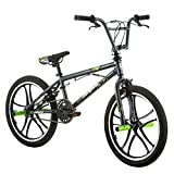Mongoose Kids 20'' Tires Axe Steel Frame Freestyle Youth BMX Bike Bicycle, Black