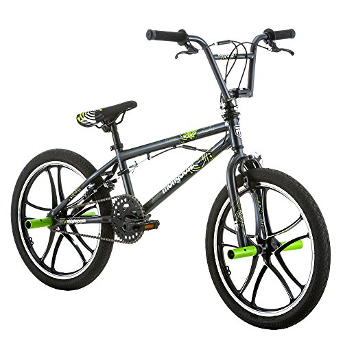 Mongoose Kids 20'' Tires Axe Steel Frame Freestyle Youth BMX Bike Bicycle, Black by Mongoose