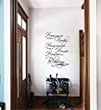Quote It - Family Home Blessing Vinyl Wall Decals Quotes Sayings Words Art Decor Lettering Vinyl Wall Art Inspirational Uplifting