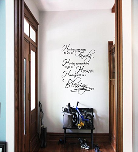 Quote It - Family Home Blessing Vinyl Wall Decals Quotes Sayings Words Art Decor Lettering Vinyl Wall Art Inspirational Uplifting ()