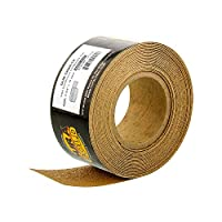 """Dura-Gold Premium - 80 Grit Gold - Longboard Continuous Roll 20 Yards long by 2-3/4"""" wide PSA Self Adhesive Stickyback Longboard Sandpaper for Automotive and Woodworking"""