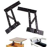 JM-capricorns Lift up Modern Coffee Table Mechanism Hardware Fitting Furniture Hinge Spring Bracket,(Black)