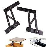 coffee table lift hinge - JM-capricorns Lift Up Modern Coffee Table Mechanism Hardware Fitting Furniture Hinge Spring Bracket, Black