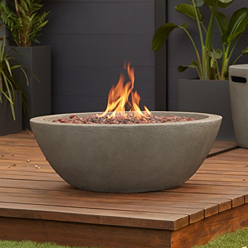 Fire Pit Gray Natural (Real Flame Riverside Propane Fire Bowl in Glacier Gray)