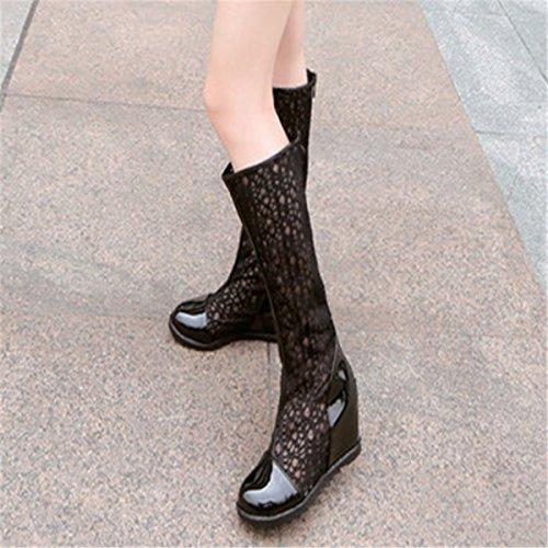 ... Fanessy Femme Sandales Escarpins d été Automne à Talon compensé Femme  Chaussure Romaine en Lace ... 5a3a22d958fc