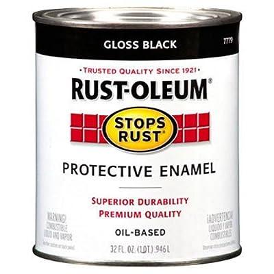 Rust-Oleum 7779504 Protective Enamel Paint Stops Rust, 32-Ounce, Gloss Black