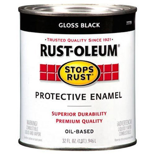 Rust-Oleum 7779504 Protective Enamel Paint Stops Rust, 32-Ounce, Gloss Black
