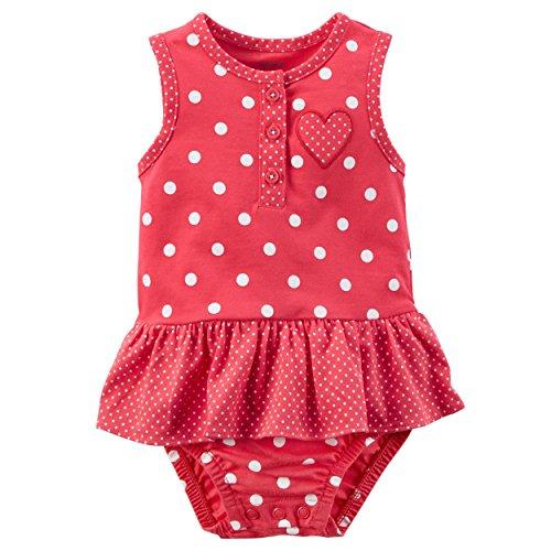 Carter's Baby Girls' Polka Dot Heart Sunsuit 24