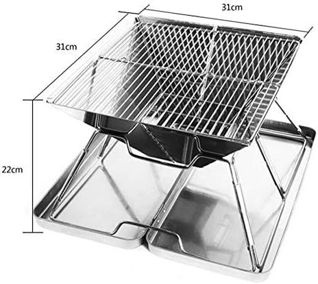 TFACR Barbecue Portable en Acier Inoxydable - Barbecue Pliant pour 2-4 Personnes, Barbecue extérieur pour Fumeur