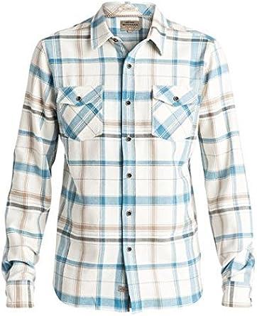 Quiksilver Hombres Camisa con Botones - Azul -: Amazon.es: Ropa y accesorios