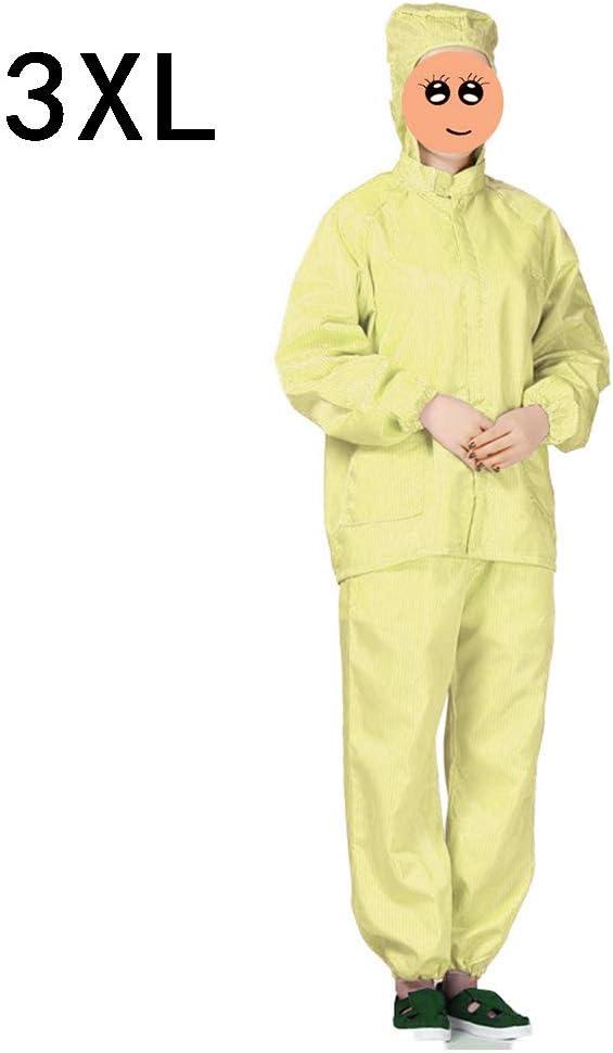 Pantalones Protectores BIlinli Overol Protector con Capucha Traje de Seguridad antiest/ático a Prueba de Polvo para Hombres Mujeres Sudadera con Capucha antiest/ática