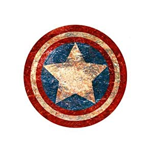 Custom Captain America Shield Personalized Rectangle Mousepad SBY-516