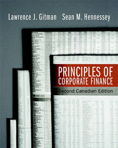 Principles of Corporate Finance, Second Canadian Edition (2nd Edition)