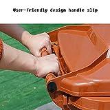 ZSLLO Recycling Bin Trash Can with Wheels Trash Can with Lid Plastic Bin Commercial Trash Can,Black, Brown, Blue, Orange,100L Trash Bin