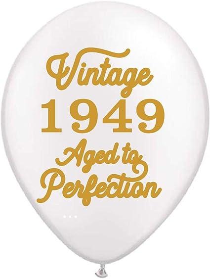 Amazon.com: Globos blancos vintage 1949 – Globos de 60 ...