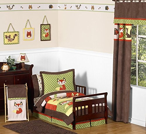 (Woodland Forest Animals Toddler Bedding 5pc Boy Bedding)
