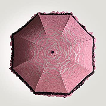 mdrw-fashion paraguas creativo paraguas flores de encaje frontera vinilo UV 30 por ciento paraguas