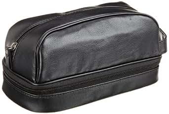 Dockers Men's Bottom Zip Travel Kit, Black, One Size