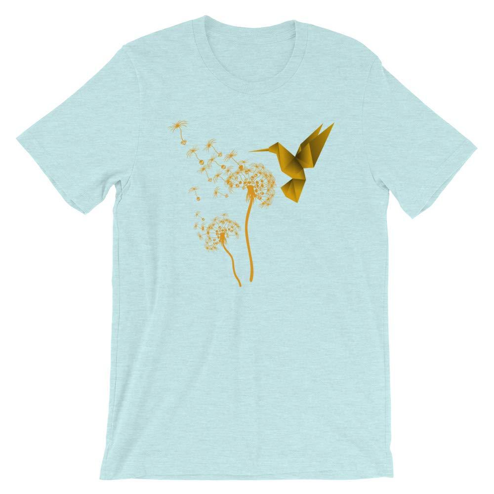 Origami Hummingbird Dandelion Make a Wish Tee