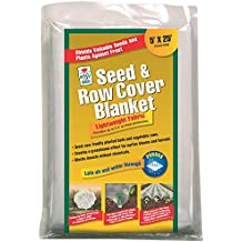 Seed & Row Cover Blanket For Frost Protection, Seed Germination, Season Extension and Animal Protection, 5 feet x 25 feet