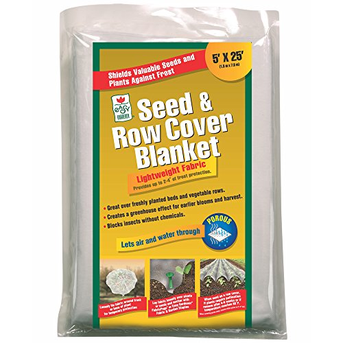 Easy Gardener 40151 Seed and Row Cover Blanket Shields Seeds & Plants Against Frost, 5 feet x 25 - Row Fabric Cover
